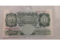 Old One Pound Note: P S Beale: 1949 to 1955