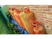 19x empty gas bottles 47kg/19kg patio heater, firebin