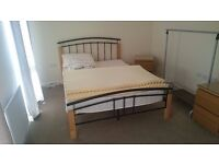 Double bed with quality Silentnight mattress