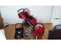 Travel system with all accessories maxi cosi bebe confort
