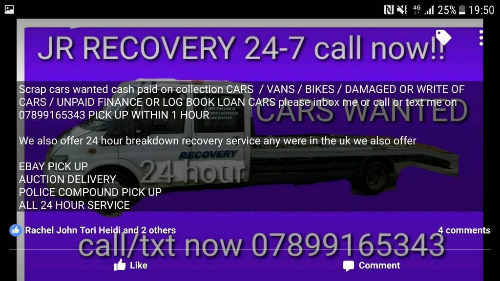 BEST CASH PAID FOR SCRAP CARS WANTED --- FAST RECOVERY SERVICE FROM ...