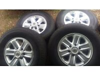 Vauxhall frontera alloy wheels and tyers for sale