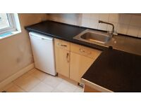 Textured black laminate kitchen work surface - used but in decent condition