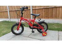 Dawes Thunder kids bike, 12 inch, red, 3/5 years