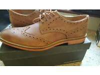 New Harrykson Brown Leather Brogue size 11