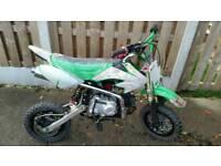 "Dirtmaster 50cc pitbike 10"" wheels"