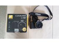 Nikon Coolpix L340 Digital Camera - Black (20 MP, 28x Optical Zoom) 3-Inch LCD 32GB memory card