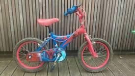 "16"" Spiderman bike"