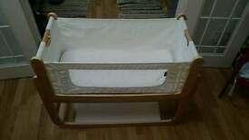 Snuz Pod 2 Bedside Crib and Moses Basket