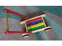Wooden baby walker (toddle truck)