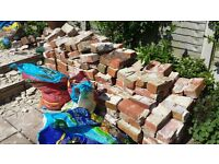 FREE red bricks and rubble