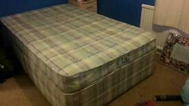 3/4 size divan bed with mattress
