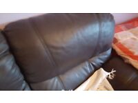 two-seater recliner Brown leather sofa for sale
