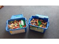 2 x boxes of mixed Lego bricks for sale