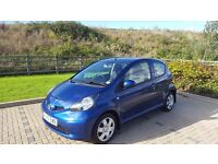 Toyota aygo blue 3 door hatchback, reliable car only selling as moving abroad!