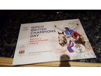 QIPCO British Champions Day - Saturday 15th October 2016 - 2Tiks = £50!!