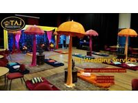 Birmingham, Asian Indian Wedding Mehndi Stages, Backdrops, Decor, Chair Covers, Flower Wall