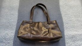F&F Dark Brown Handbag, Shoulder Handbag, Zips, Good condition, Contact me soon as, Cheap price £3