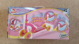 Brand New in Box ~ Ozbozz My First Pink Scooter ~ 2yrs+
