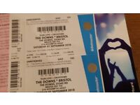 Two tickets for The Downs - Bristol tomorrow, Noel Gallagher, Paul Weller, Orbital etc
