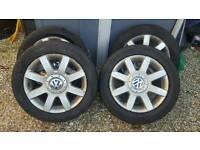 Vw golf gttdi alloys with good tires 5x112