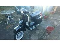 lml black scooter