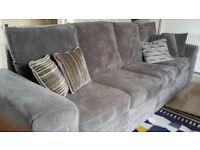 Large grey jumbo cord sofa