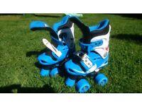 Children's adjustable roller skates. Sizing 1 - 4.