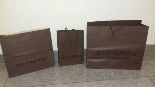 3 original louis vuitton papiertaschen t te verpackung in. Black Bedroom Furniture Sets. Home Design Ideas
