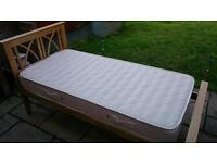 Single bed and mattress never used