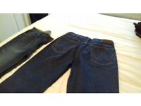 2 PAIRS OF JEANS (NOT WORN) - WRANGLER & M&S
