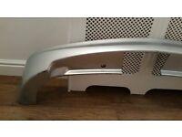 vw golf mk4 rear bumper spliter silver