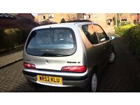 Fiat SeIcento 1.1SX Petrol Manual 3dr Hatchback Silver Sunroof 65k Miles Mot Looks Drives well