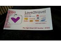 £100 love 2 travel voucher