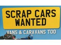 SCRAP CARS AND VANS WANTED - ALL WEST MIDLANDS - BEST PRICES PAID - 1 HOUR COLLECTION