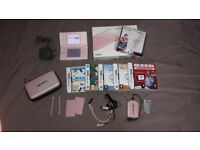 Nintendo DS Lite Coral Pink + Boxed + Accessory Pack + 5 Games