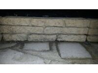 Concrete decorative edging blocks