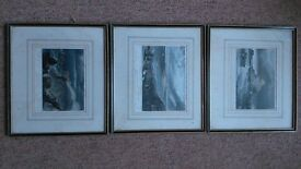 Antique hand coloured engravings of JMW Turner prints