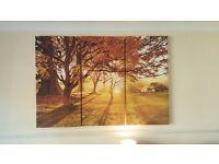 Large 3 Part Wall Art – Sunset - Prints - CHEAP