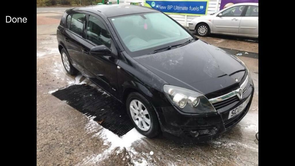 2005 05reg Vauxhall Astra 1.4 Petrol Black Alloys Low insurance