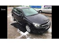 2005 05reg Vauxhall Astra 1.4 Petrol Black Alloys Low insurance