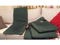 Garden chair cushion x4 / green