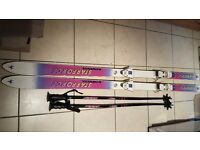 Kneissl starforce skis and poles