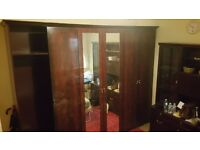 VERY LARGE SOLID TRIPLE WARDROBE WITH MIRRORS ONLY £70