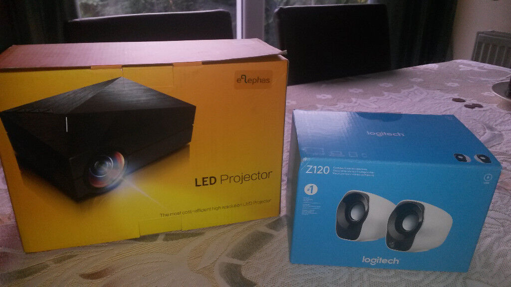 New LED HD Projector and Speakers for sale