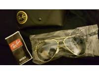 Aviator sunglasses brand new with case