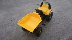 Rolly Toys JCB dumper/tipper truck, used once, as new