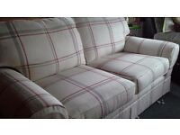 2 seater Laura Ashley Sofa. Cost £850. 2 years old but unused for genuine reason.