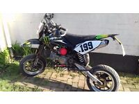 £1000 or swap 2011 road legal pit bike stands taller then most loads off extras look!!!!