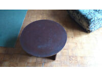 Small round table 60cm diameter with shelf, wooden for sale for only £5. Sale ends 29/08.